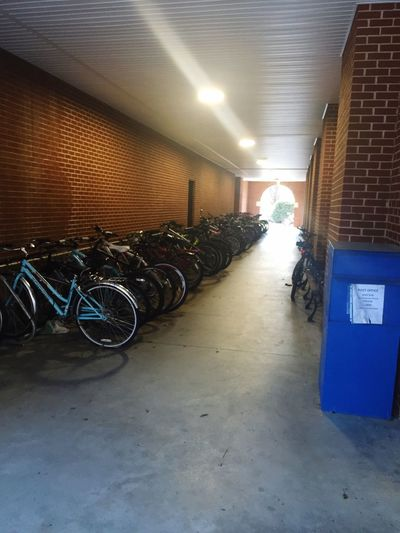 Passageway Bicycles Liberty University Day Still Brick Tunnel