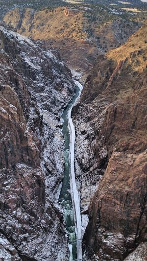 It's Cold Outside Traveling Christmas Time Colorado Royal Gorge Freezing Cold Snow ❄ Frozen River Arkansas River View From The Bridge Landscapes With WhiteWall Been There. Perspectives On Nature Shades Of Winter