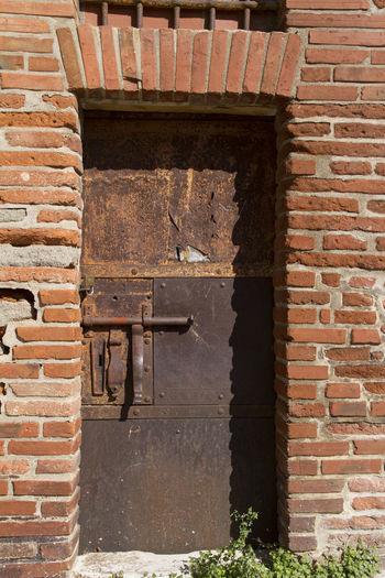 Big Lock Old Rusty Iron Door