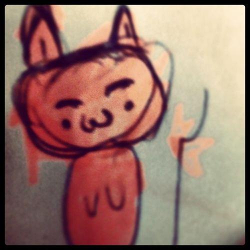 Cat Brzydki Rysunek Nuda  wieczor