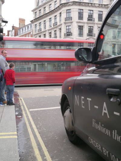 Red Bus Taxi Movement Movin Moving Londen ND8 Transportation Traffic Travel Commuting