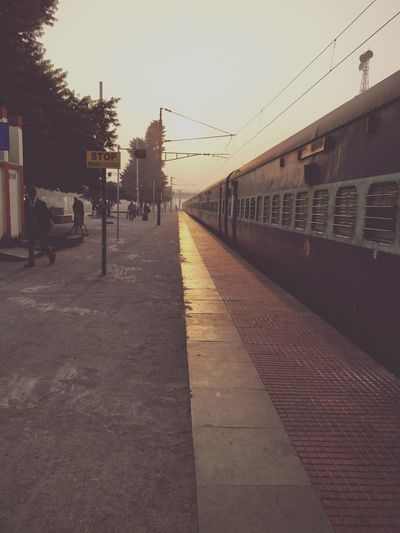 Transportation Indianrailway Morning Light Winter Outdoors No People Built Structure Day Architecture Sky City