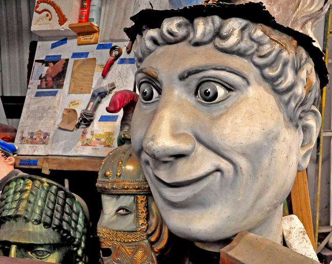 Inside the Mardi Gras Museum - New Orleans, USA Harpo Marx New Orleans EyeEm Art And Craft Close-up Day Human Representation Indoors  Male Likeness Mardi Gras Museum No People Sculpture Statue