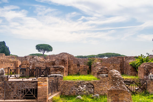 palatine hill near foro romano History Palatine Site Agriculture No People Sky Day Outdoors
