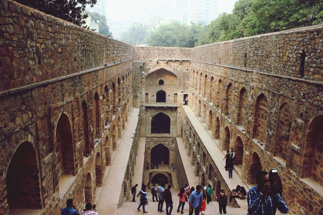 Step well in New Delhi Step Well Newdehli Dehli India
