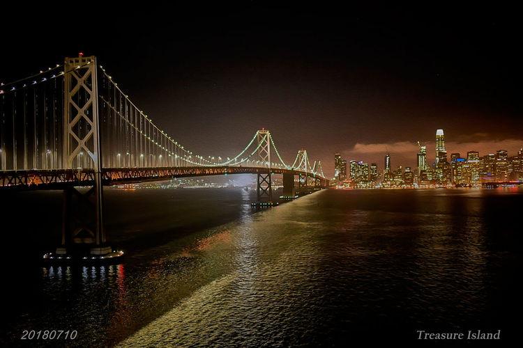 San Fransisco at night Bay Bridge Oakland Bay Bridge Summer2018 Treasure Island City Cityscape Illuminated Water Sea Suspension Bridge Bridge - Man Made Structure Skyscraper Long Exposure Downtown District Bay Of Water San Francisco