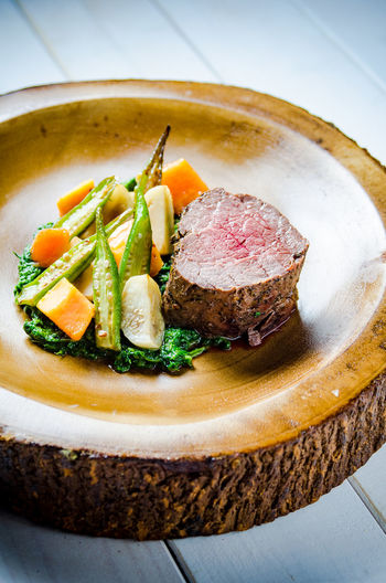 Food And Drink Herb Meal Temptation Food Foodphotography Fresh Freshness Garnish Healthy Healthy Eating High Angle View Indoors  Indulgence Meat No People Organic Plate Ready-to-eat Serving Size Steak Still Life Tabletop Vegetable Yummy
