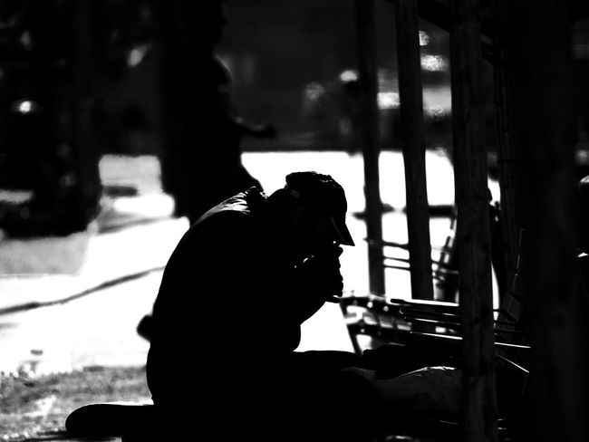 Real People Sitting Silhouette Leisure Activity People Mammal Day Side View Lifestyles Outdoors Focus On Foreground One Animal Men Nature Vertebrate Adult