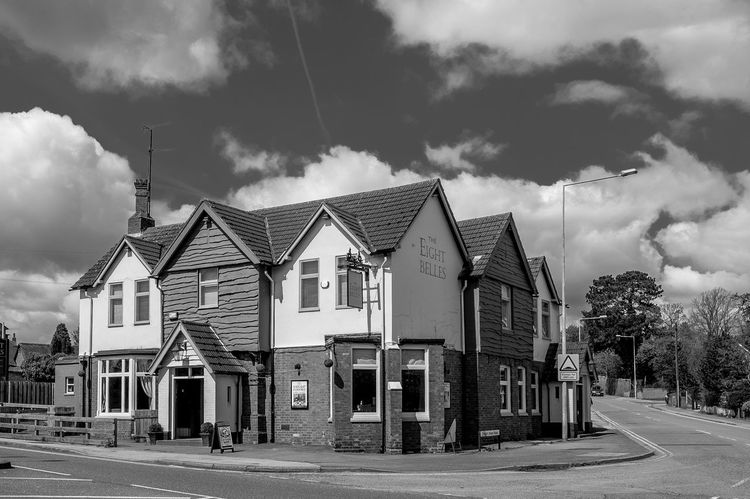 The Eight Belles, Buckingham Road, Bletchley, Buckinghamshire Urban Buckinghamshire Bletchley  Architecture FUJIFILM X-T10 Black And White Monochrome Pubs Buckinghamshire Pubs