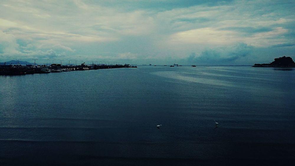 Sea Cloud - Sky Sky Dusk Blue Beach Vintage Outdoors Abstract Alone In The Dark