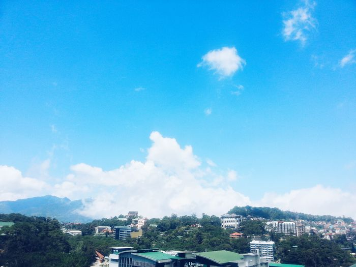 Baguio City, Philippines Rooftop My City Cityscape Clouds And Sky Cloudscape
