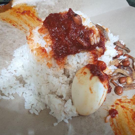 Nasi Lemak tetek Egg Yolk Food Close-up Comfort Food: Ready-to-eat No People Chillies Coconut Milk