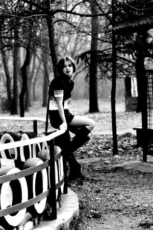 Full Length One Person Adult Outdoors Young Adult Nice Girl Monochrome Photography Blackandwhite Old Shot Real People