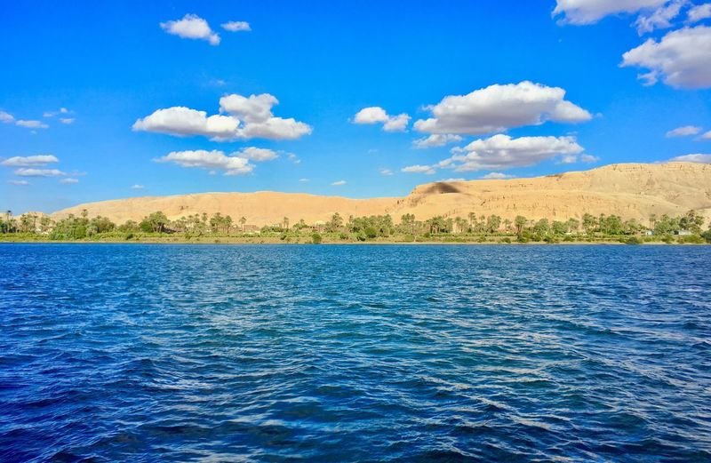 Egypt Luxor The Nile River River Nature Palm Tree Beauty Relaxing Sky And Clouds Clouds And Sky Clouds Natural Beauty Tranquility Aswan Nile Cruise