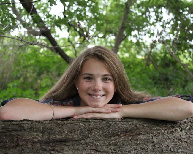 Senior Pictures Looking At Camera Portrait Tree Smiling One Person Happiness Outdoors Young Women Nature Close-up