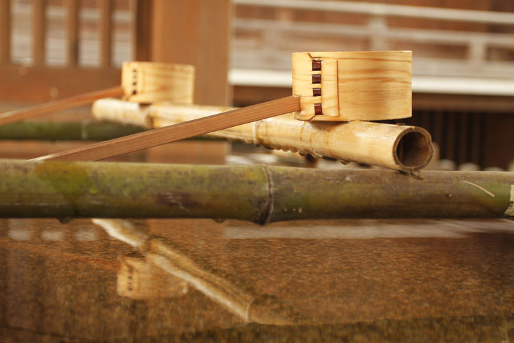 Faith Japan Worshippers Bamboo - Material Buddhism Culture Dipper Religion Wood Wood - Material Zen