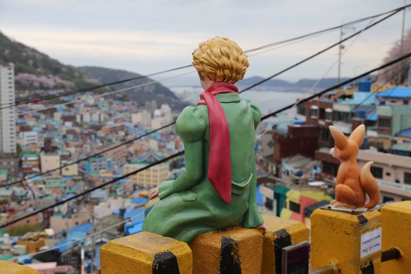 Travel Destinations Outdoors Sky Day Statue Cityscape Sculpture Le Petit Prince Busan Korea