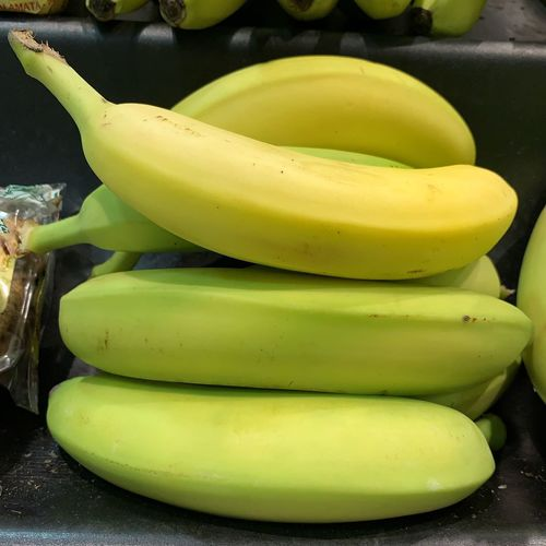 High angle view of bananas in container
