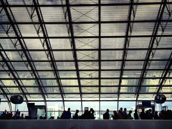 Airport Paris Cdg Roissy Charles De Gaulle Airport Silhouette LINE Backlight Structure Windows Roof Architecture Architectural Detail Departure Mmaff From My Point Of View Eye4photography  EyeEm Gallery Taking Photos Hello World