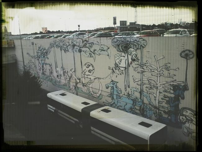 street art Walking Around