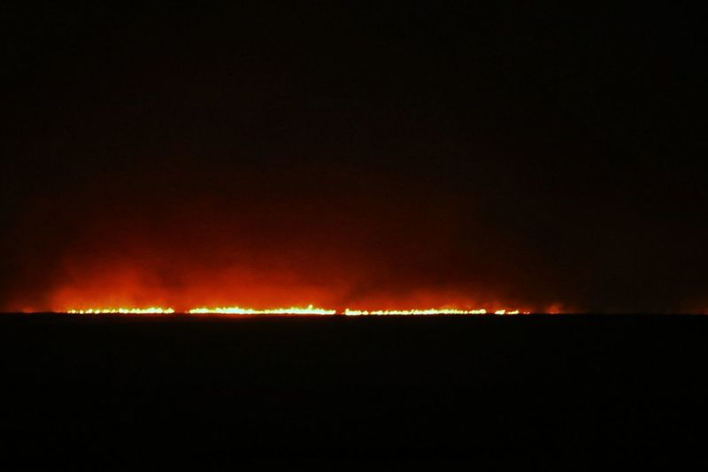 Kansas Wildfire Fire In The Sky Grass Fire Prairie Burning Beautiful Destruction