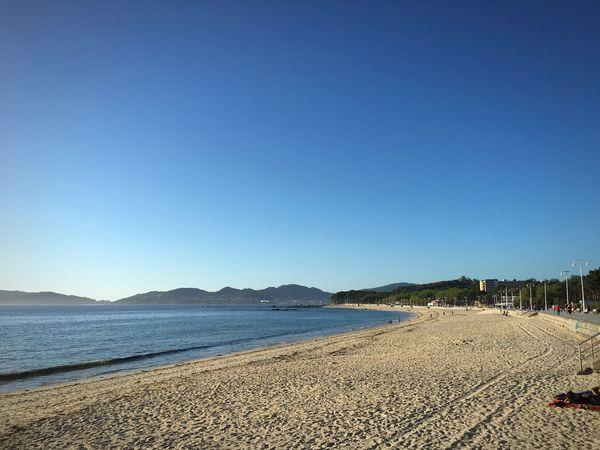 Samil en un día precioso Blue Beach Clear Sky Sand Sea Vigo Samil Galifornia Riasbaixas