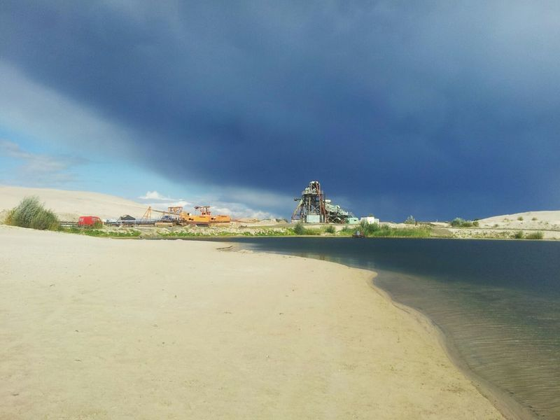 EyeEm Best Shots Eye4photography  Sky_collection Shore Mining Sand Water Cloud_collection  Surface Mine Gravel Quarry