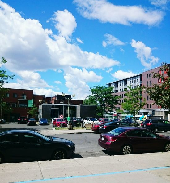 My Neighborhood Dancing Clouds I Love The Sky Taking Photos Montreal :)