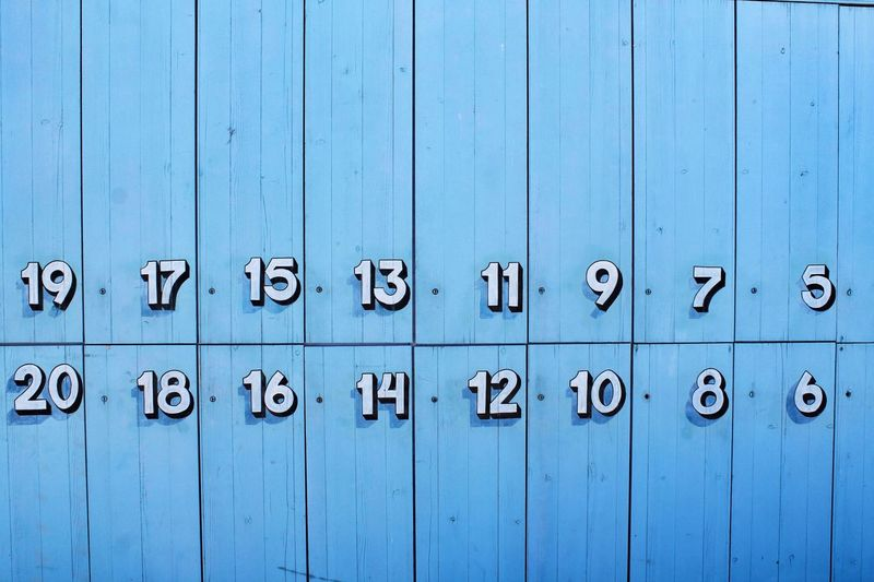 Close-Up Of Numbers On Wall