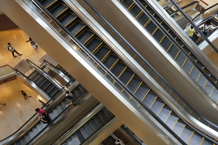 REPEATING LIFE Plaza Modern Escalator Lifestyles Repetition City Rhythm Repeat