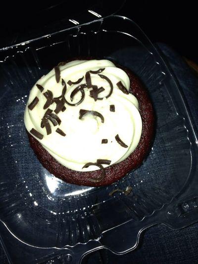 Red velvet cupcake. Cheesecake Factory.