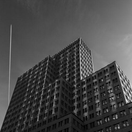 Kollhoff Tower Potsdamer Platz Berlin Architecture Black And White