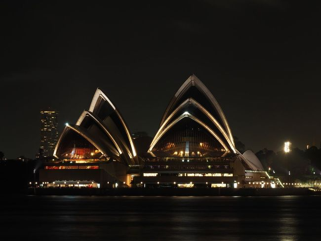 Architecture Australia City Cityscape Icon Illuminated Midnight Night No People Opera House Outdoors Performing Arts Event Sydney Travel Travel Destinations