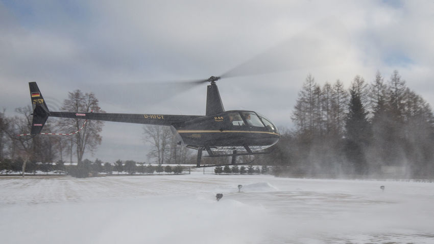 Air Cold Temperature Day Environment Flying Helicopter Heliport Nature R44 Robinson Rotor Sky Snow Tree Weather Winter
