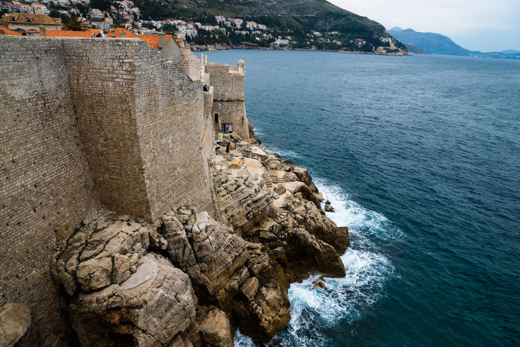 Dubrovnik, Croastia Beauty In Nature Blue Coastline Day Idyllic Mountain Nature No People Ocean Outdoors Rippled Rock Rock - Object Rock Formation Scenics Sea Sky Tourism Tranquil Scene Tranquility Travel Destinations Water