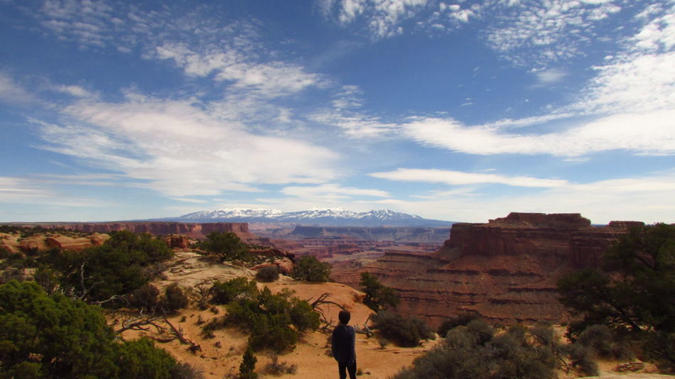 Adventure Club Mountains And Sky EyeEm Outdoors EyeEm Nature Lover Nature_collection Nature Photography Natural Photography Natural Picture Beauty In Nature Mountain_collection Cloud - Sky Mountain View Landscape_Collection Landscape_photography Mountains Horizontal Lines Dead Horse Point Moab, Utah
