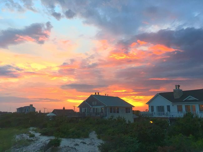 Fire Island NYC Dusk Beach Dunes Summer Views Sunset Sky Built Structure Building Exterior Architecture Cloud - Sky No People Nature Outdoors Beauty In Nature Day Dwellings Summertime Best Of EyeEm EyeEm Best Shots Senic View