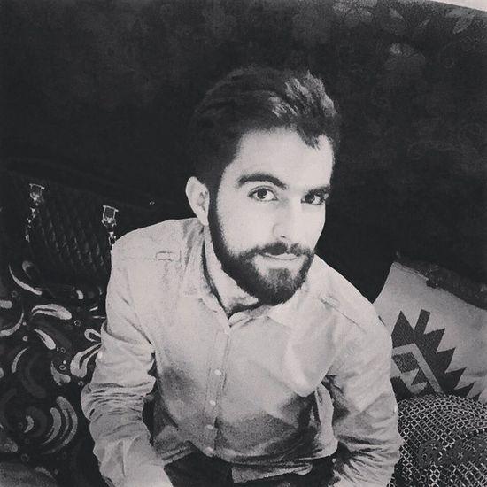 Me Swag Kurdishboy Kurdistan Hawler Kafedo Cafedo Beared Bearded Blacknwhite Erbil