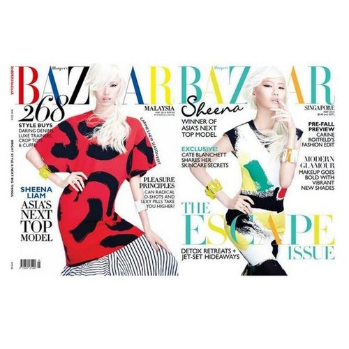 """@sheenaliam, Winner of Asia's Next Top Model Cycle 2 1. Cover of Harper's Bazaar Magazine: Malaysia (Left) 2. Cover of Harper's Bazaar Magazine: Singapore (Right) She's SMIZE, She's elongate her neck, She's did a Booty Tooch, She's did a Zig Zag pose, She's did an """"inhale"""" facial expression. Great job! She's amazing, humble, creative, high fashion, stunning & chameleon. She is truly """"FACE OF MODERN ASIA"""". Keep it up girl & ignore the haters & just go rock the world & make your country (Malaysia) proud! Im absolutely looking forward to collaborate with you in future yah! :) Which one is your favourite? I LOVE BOTH! :D Sheenaliam Asntm Love Harperbazaar makeup magazine cover Winner cycle2 smize beautiful stunning vogue Asia asian model shirt pants HighFashion women girls girl gorgeous"""