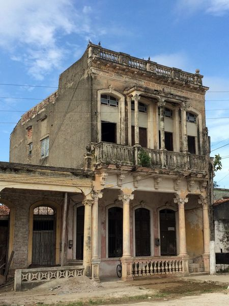 Old house Architecture Blue Building Building Exterior Built Structure Cloud Cloud - Sky Colonial Architecture Day Exterior Façade House Low Angle View No People Old Outdoors Residential Building Residential Structure Sky
