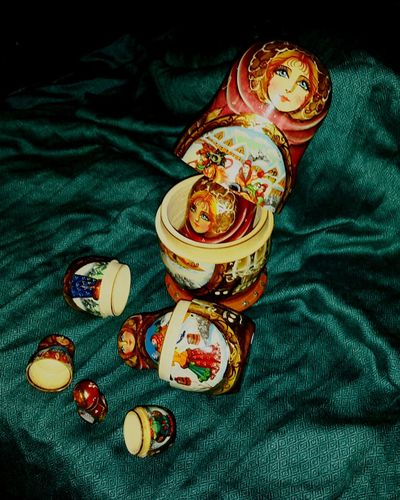 Better Together Russian Nesting Dolls Seeing The Sights Fine-art Russian Hand Painted Iconic