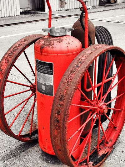 Red Wheel Check This Out 3XSPUnity Christian Kustomz EyeEm Best Shots Close-up Hydro Extinguisher Fire Extinguisher Water Water_collection Coal Burning Power Plant Turbine