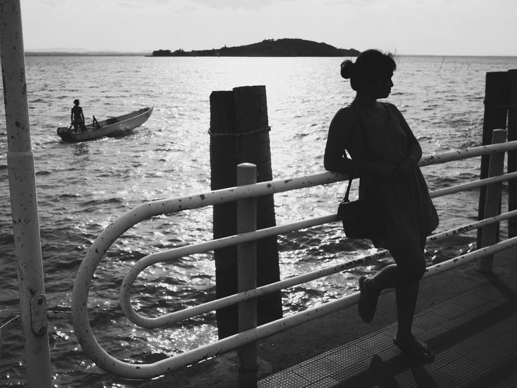Water Silhouette Sea Outdoors People San Feliciano Italy Streetphotography Everybodystreet Monochrome Boat The Portraitist - 2018 EyeEm Awards