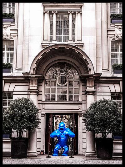 Thou shall not pass Fresh On Eyeem  Nicholas Nelson EyeEm Gallery Lampwick Blue King Kong Creative Photography London Street Photography Sculpture City Of London Xavier Veilhan