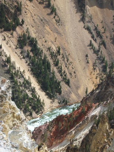 Grand Canyon of the Yellowstone, Yellowstone National Park Yellowstone National Park Nature Outdoors Grand Canyon Of The Yellowstone Environment Landscape Scenics - Nature No People Mountain Day Beauty In Nature Aerial View High Angle View Tranquility Water Rock Land Non-urban Scene Rock - Object Tranquil Scene Valley