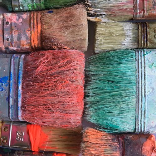 Art Equipment Brushes Multi Colored Variation No People Full Frame Art And Craft Backgrounds Creativity Paint Close-up