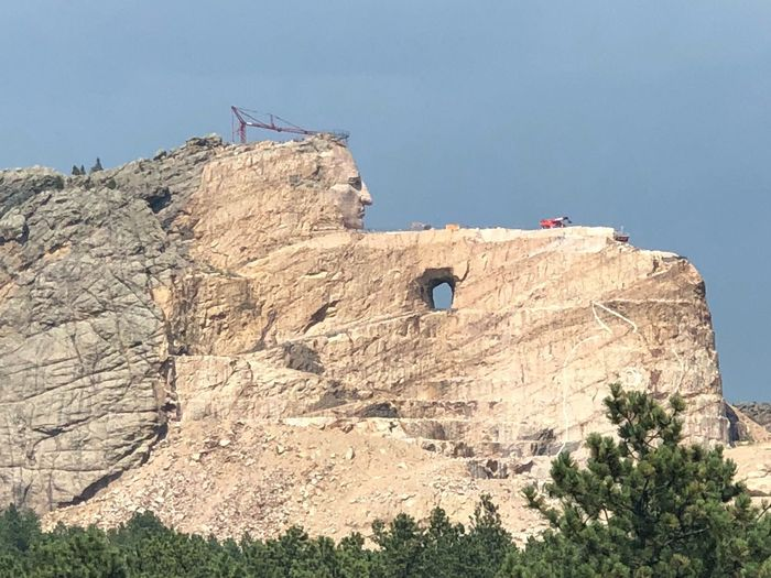"""""""My lands are where my dead lie buried"""" ~ Crazy Horse Crazy Horse Memorial Girls Trip 2018 Sky Nature Plant Day Low Angle View Architecture Built Structure Tree Sunlight Rock The Past"""