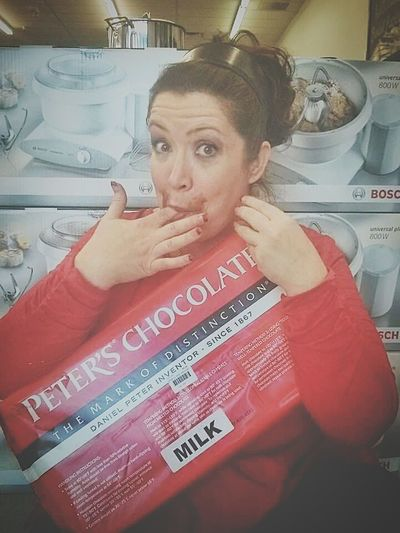 Chocolate is a girls best friend! Chocolate Chocolate♡ Silly Candy Store Candy Milk Chocolate Messy Face