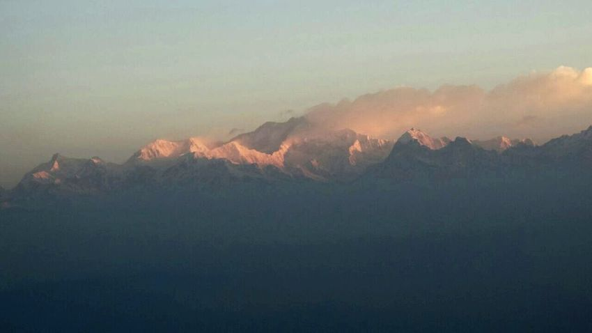 View of Kunchenjunga peak @ Darjeeling, India Shades Of Winter Nature Mountain Range Beauty In Nature Tranquility Landscape Dawn Of A New Day Sunrise_Collection Sunrise Silhouette Kunchenjunga Mountain Peak Himalayan Range Incredible India Outdoors Scenics Clouds And Fog Tranquil Scene Beautiful Nature Darjeeling India Darjeelingdiaries Nature Live For The Story The Great Outdoors - 2017 EyeEm Awards