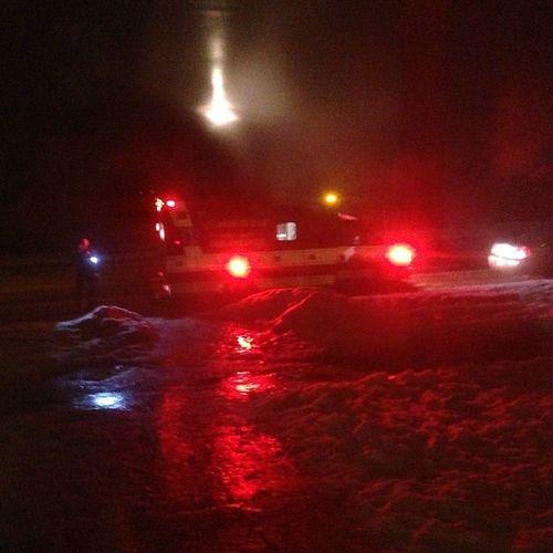 Thanks for crashing outside my house and having ambulances wake me up. HopethepeopleareOK